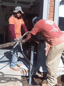How to Repair a Settling Garage Column