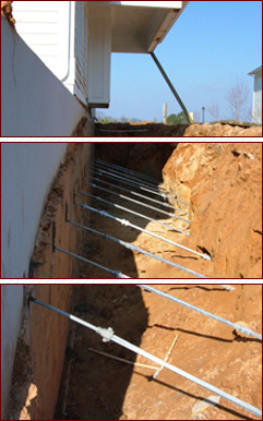 Helical piers are a bowing wall solution for your Atlanta home.